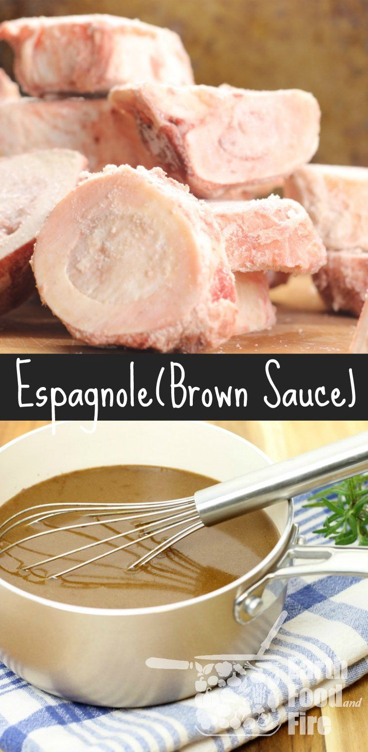 Espagnole or Brown Sauce is one of the 5 Mother sauces and ideal for use in gravies or other rich meat-based sauces. via @earthfoodfire