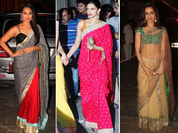 From Diwali soirees to annual card parties, B-town let its hair down for Diwali and partied hard. We caught the Bollywood brigade in their festive best over this long weekend. Take a look and tell us which looks you prefer. Image courtesy: IANS, BCCL Don't Miss! B-Town Glams Up for the Festive Season