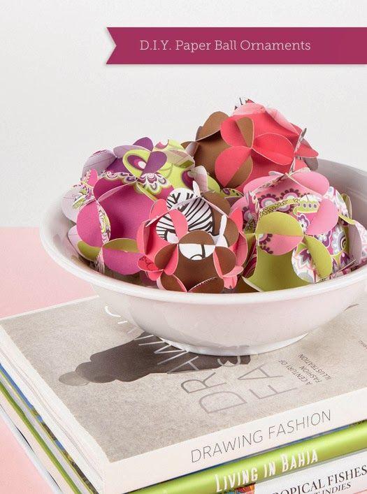 Popular DIY Paper Ball Ornaments