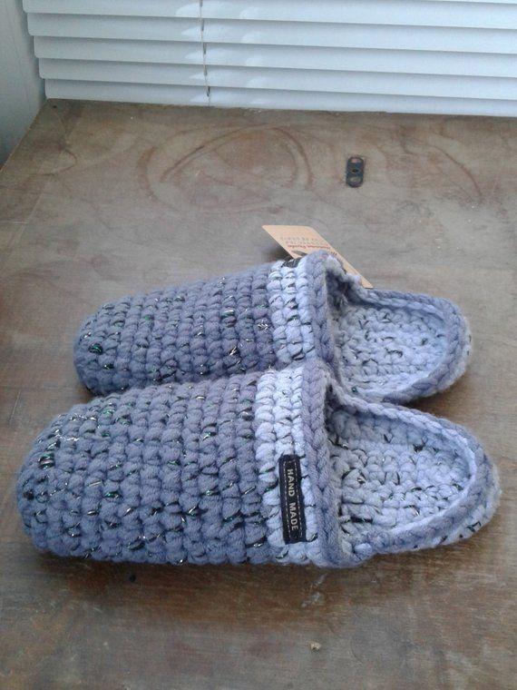 0b61ca8ea5d44 Knitted Chuni Slippers 002 Dark Gray Wool Blend handmade home shoes ...