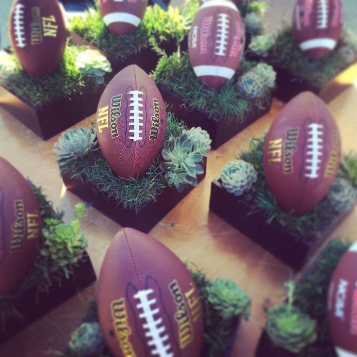 Super Bowl Sunday Football Centerpieces
