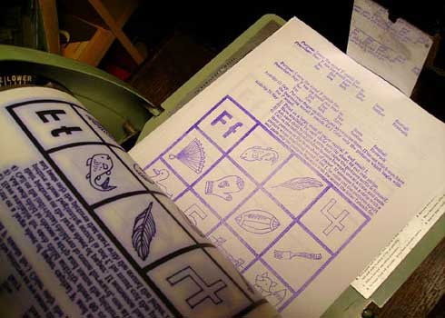 Your teacher made handouts using a ditto machine. Remember how they smelled?