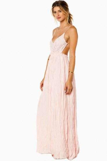 Maybe I'm Dreaming Maxi Dress in Pink