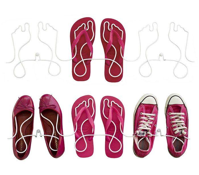 Footprint Wire Shoe Rack