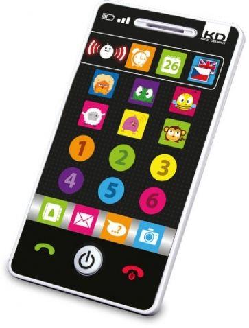 Tech-Too  - Můj smartphone, česko-anglický. Můj první dvojjazyčný (českoanglický) Smartphone obsahuje 4 hry. Objevuj a nauč se čísla, barvy, názvy zvířat a jejich zvuky. Smartphone je výuková interaktivní hračka vhodná pro děti od 1 do 3 let, která byla navržena ve Francii.