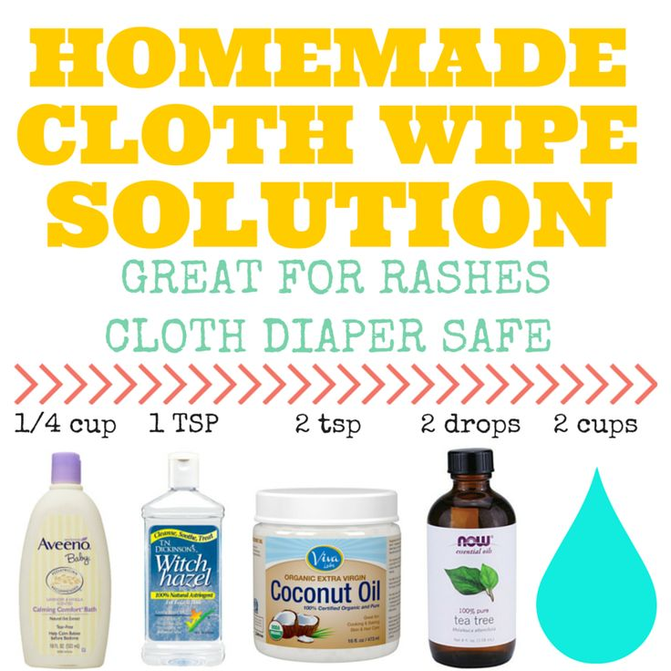 Make your own cloth wipe solution and cloth wipes!