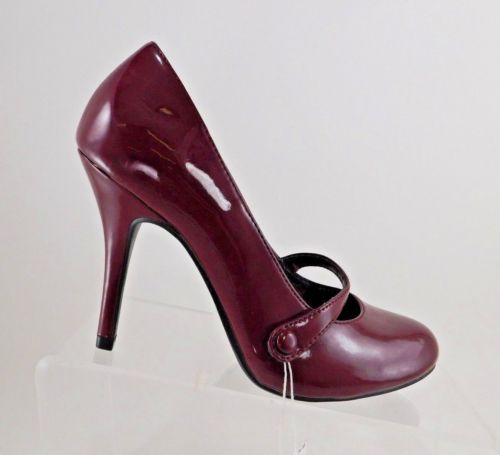 American Eagle Burgundy Patent MaryJane Stiletto Womens Shoes Size US 6.5M EU 38