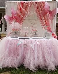tulle table skirt - Google Search