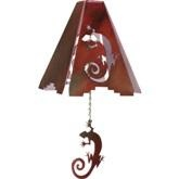 Gecko Lizard Southwestern Laser Metal 3-D Wind Chimes 15 colors 8 inch - Outdoor Decor - WEST BY SOUTHWEST DECOR ------- for Denise G