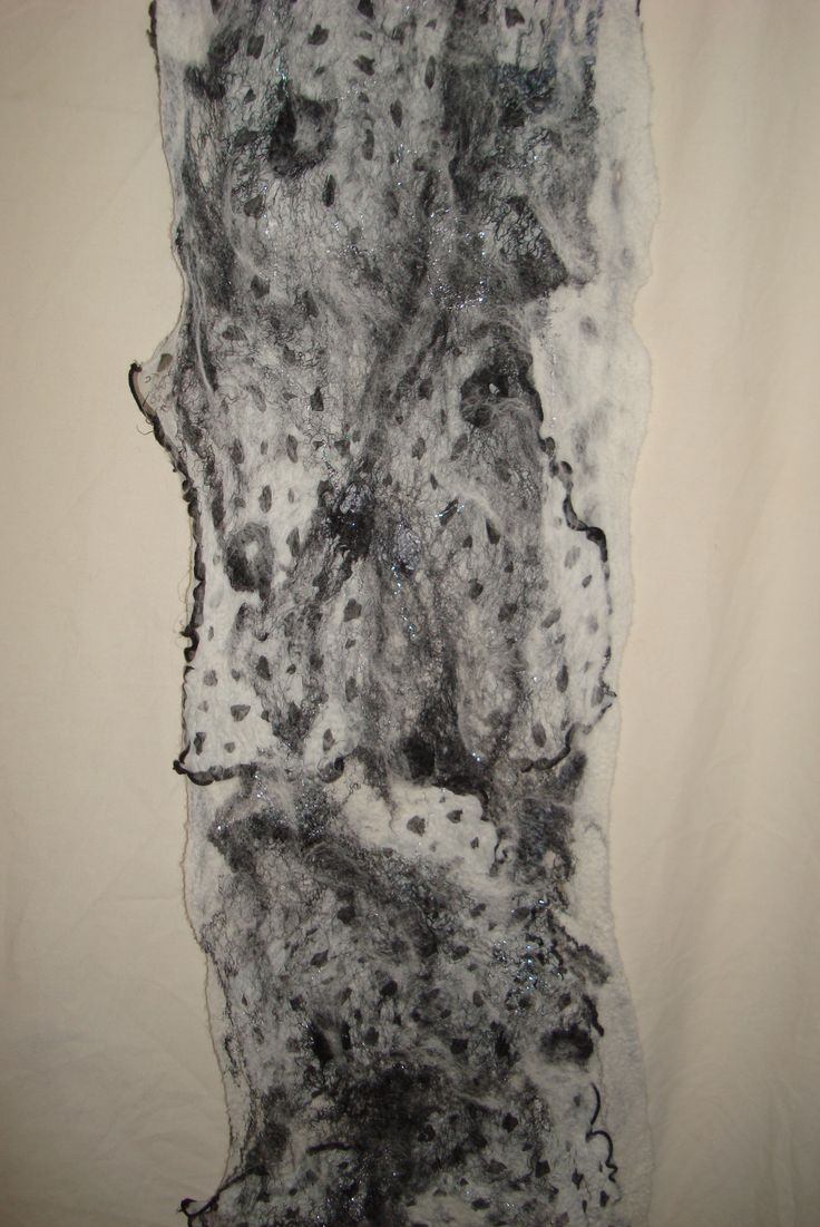 Uwankara- we the people We the people - neither black nor white, working together according to Earth's plan. Reversible nuno felted scarf AUD $145 www.facebook.com/wowcreationsqld