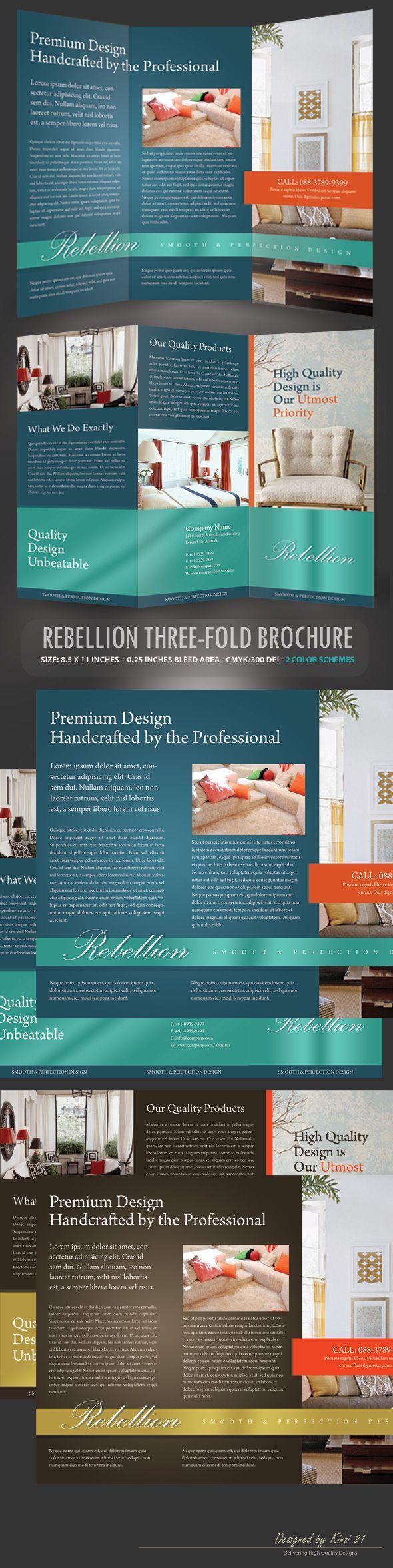 Rebellion Trifold Brochure Template on Behance