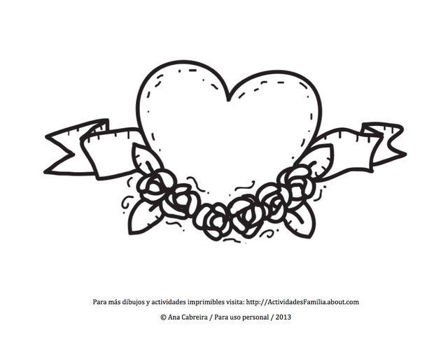 Ms de 25 ideas increbles sobre Dibujos de corazones en Pinterest