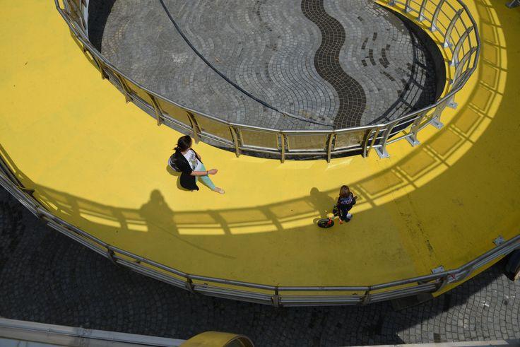 """pedestrian bridge, mamaia, romania """"Navod si pescarusi"""""""