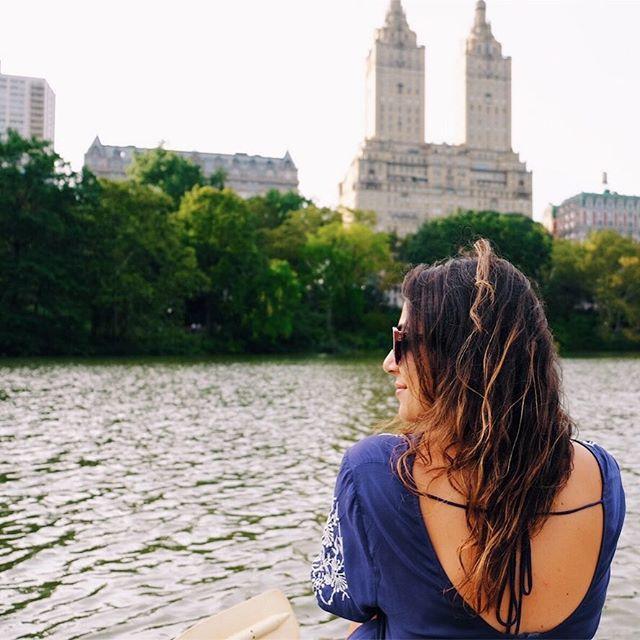 Ozge Hiz / Central Park, New York, Loeb's Boathouse, boat ride in Central Park,