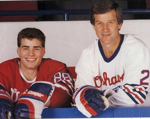 The Big E (Eric Lindros) and Number 4 (Bobby Orr)   Oshawa Generals   OHL   Hockey