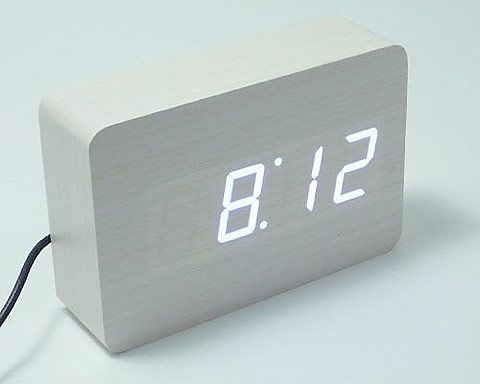 Small Wooden LED Clock  