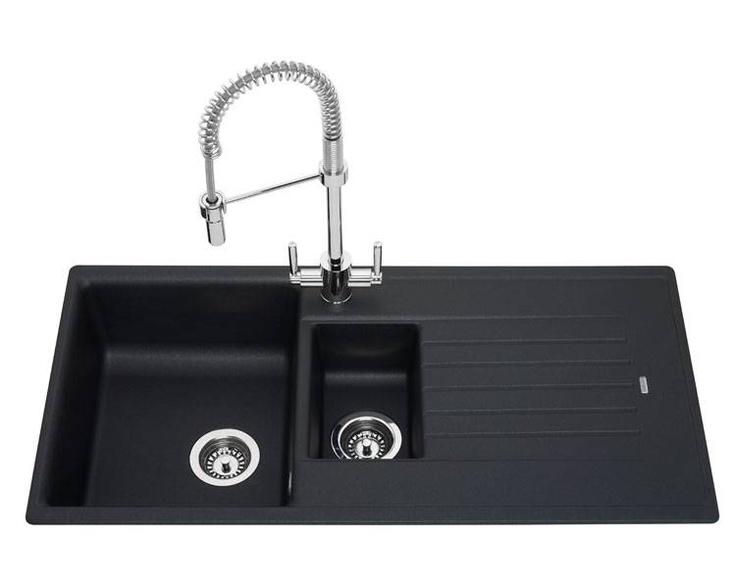 Marvelous Lamona 1.5 Bowl Black Granite Composite Sink   Granite Composite   Sinks    Kitchen Collection