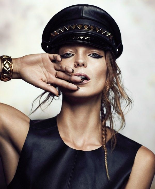 Future Daria.Eyeliner, Nose Rings, Balmain Spring, Hats Hair, Makeup Eye, Fashion Editorial, Eye Liner, Fashion Magazines, Daria Werbowy