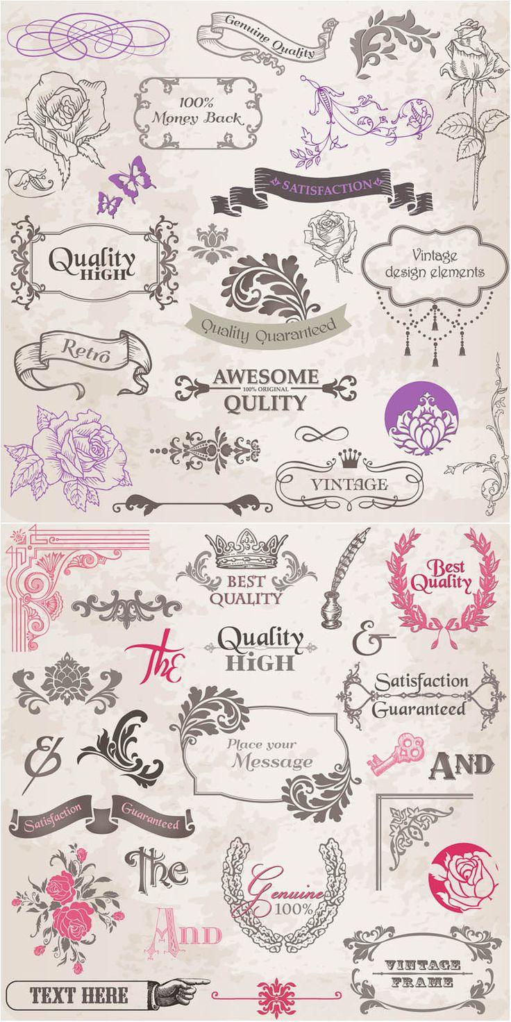 vintage graphics  | Vintage graphic design elements vector | Vector Graphics Blog
