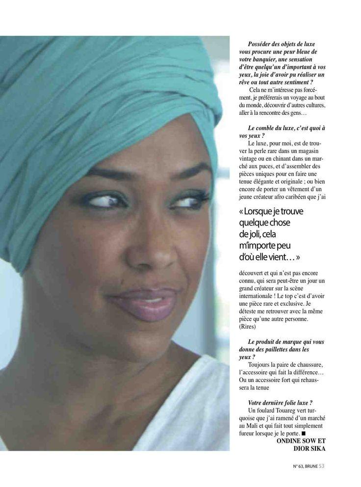 La nouvelle essence du #luxe Le #luxe est en train de subir une singulière mutation où les valeurs mercantiles perdent de l'attrait au profit d'une conception moins ostentatoire de l'existence et du plaisir. Six #femmes de valeur parlent de leur vision du #luxe dans Brune, Magazine. « Pouvoir voyager régulièrement en jet privé. Actuellement je le fais, mais pas avec mon jet personnel » Abira Bonfoh, #Togolaise « J'ai une affection particulière pour la haute #joaillerie et les…