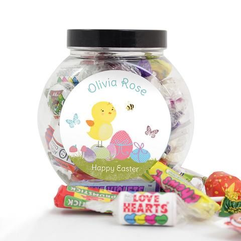 79 best personalised easter gifts images on pinterest easter gift personalised easter meadow chick sweets jar easter chickgraduation giftsunusual negle Images