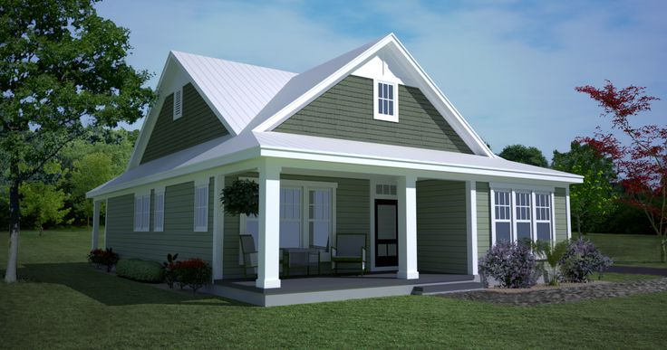 <!-- Generated by XStandard version 2.0.0.0 on 2013-04-12T11:00:26 --><ul><li>Only 40' wide, this adorable Southern cottage was designed for a narrow lot.</li><li>The open floor plan makes the most of space with the views flowing from living room to dining room to kitchen.</li><li>A rear covered porch is deep enough for lots of comfortable chairs.</li><li>All the bedrooms are on the right wing of the home with the master suite having front windows and a tray ceiling.</li><li>Stairs near…