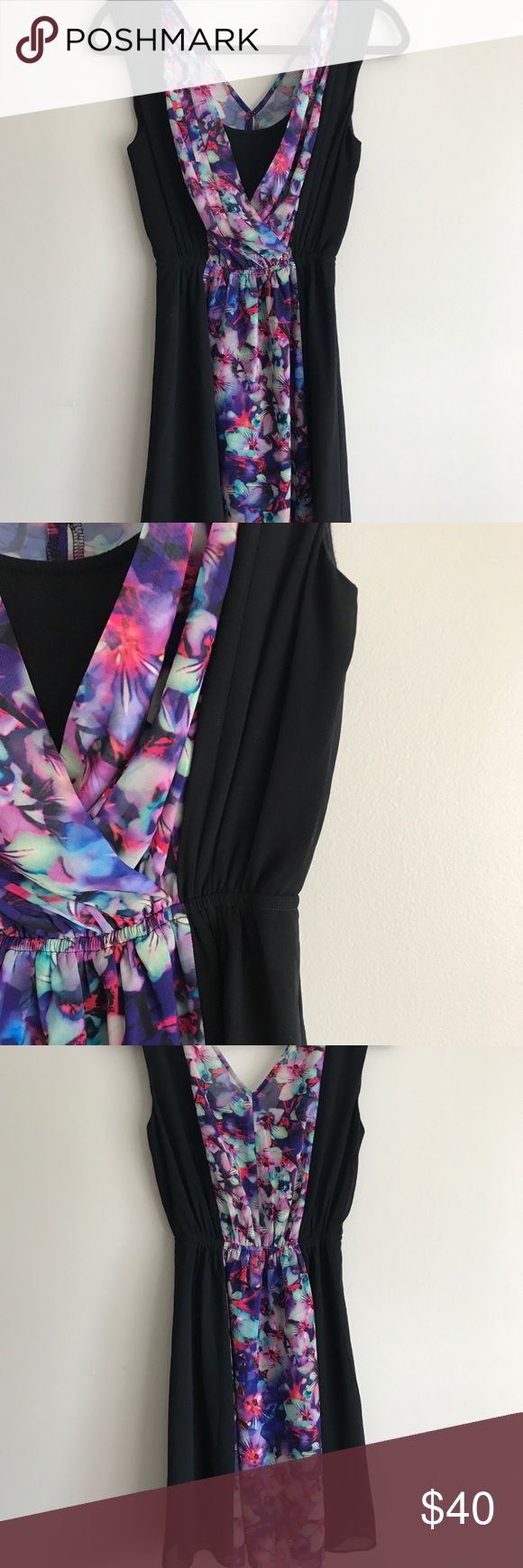 Express Flower Dress Beautiful dress great for spring. Worn once to an event!  ✨Open to offers ✨ 🌟I ship either that day or the next🌟 Express Dresses
