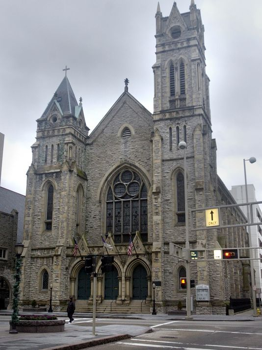 Covenant-First Presbyterian traces back to Cincinnati's beginning. Photo: Covenant-First Presbyterian Church at Eighth and Elm streets has stood for 140 years, and houses links to Cincinnati's history. The Enquirer/Michael Snyder