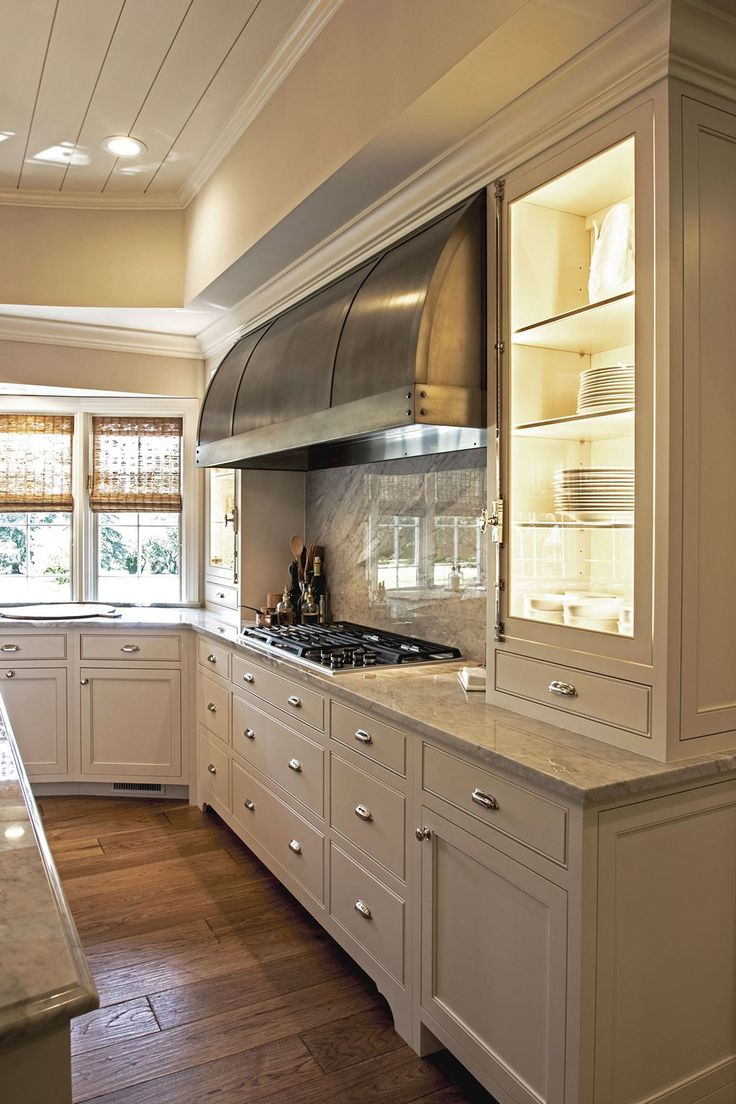 290 best kitchen stoves ovens hood images on pinterest dream wolf 5 burner gas cook top in traditional kitchen with stone counters and splash back