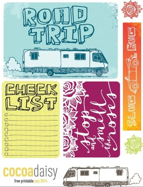 Free Road Trip Printables from Cocoa Daisy