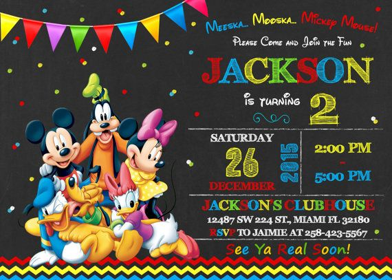 Mickey Mouse Clubhouse Invitation Birthday Mickey by LuckyPixel
