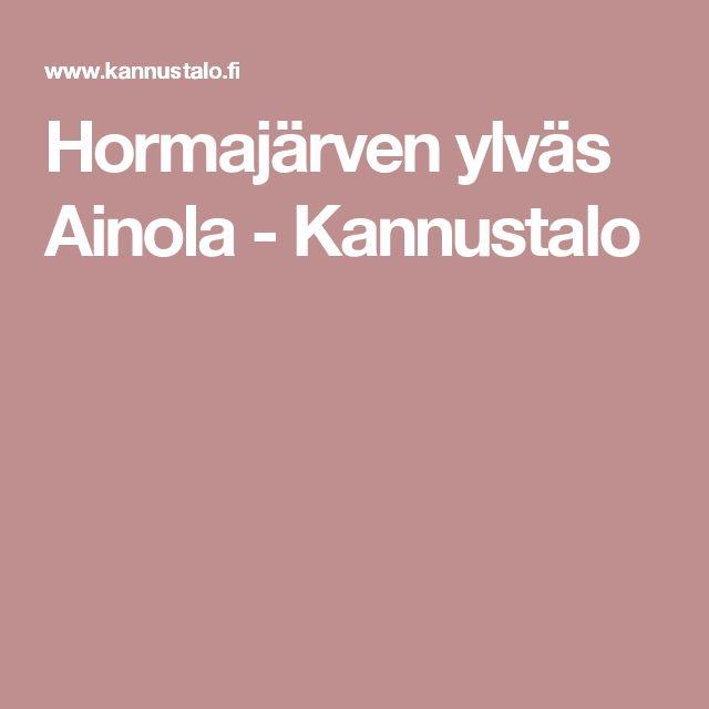 Hormajärven ylväs Ainola - Kannustalo
