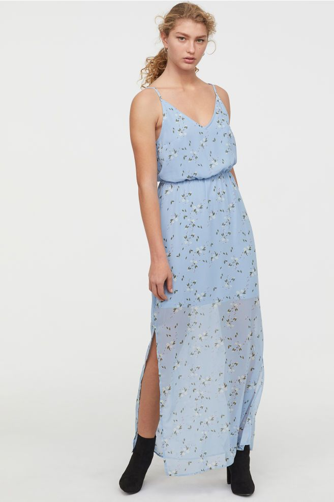 e2dc0f96093 H&M Chiffon Maxi Dress - Blue in 2019 | 25. Apparel: dresses ...