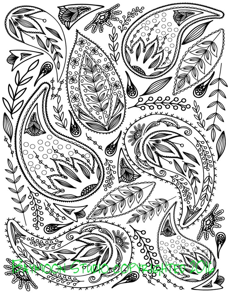 Paisley Pattern Colouring Sheets : 1126 best white paisley images on pinterest
