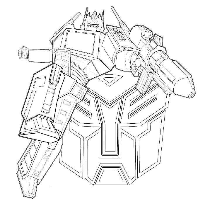 transformers coloring pages online - transformers was an evil enemy firing coloring page