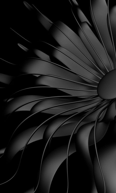 Black Wallpaper Cellphone : Download 480x800 «Black flower» Cell Phone Wallpaper ...