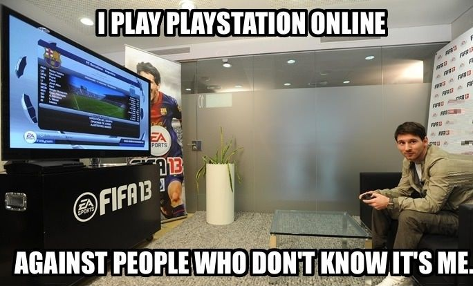 Messi playing FIFA 13 // funny pictures - funny photos - funny images - funny pics - funny quotes - #lol #humor #funnypictures