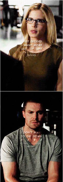 Arrow - Oliver & Felicity Smoak - So far, so close