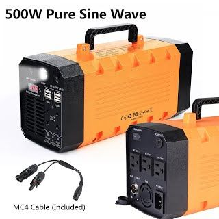 """""""Features & Benefits"""" 7lb 500W 288WH Backup Portable Generator Solar Power Source Power Inverter UPS 26000mah Li-on Battery Power Supply Powerhouse Charged by Solar/AC Outlet/Cars with 3 AC & 4 DC 12V & 4 USB Ports"""