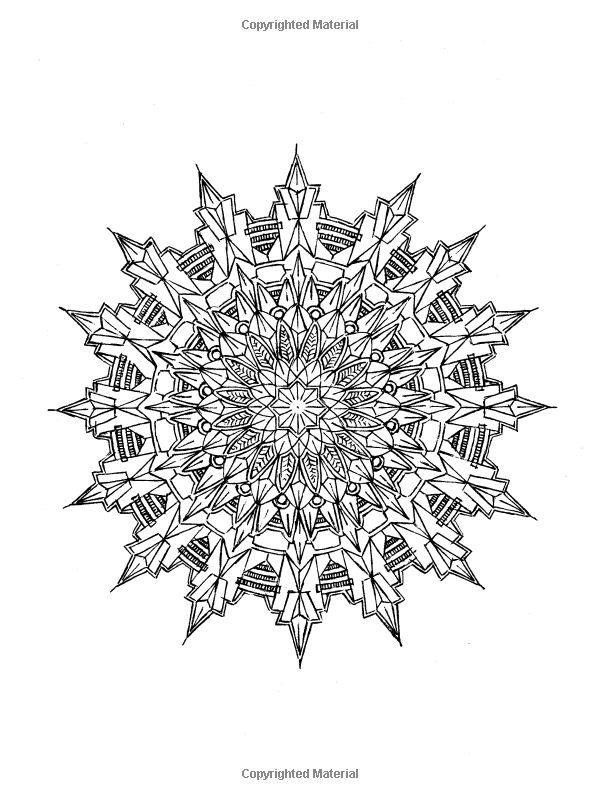 Kaleidoscopic Design Coloring Book Dover Books Lester Kubistal 9780486405667