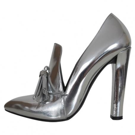 Richelieu à talon ALEXANDER WANG Silver size 39 FR in Patent leather All seasons - 382390  #alexanderwang  #vestiairecollective