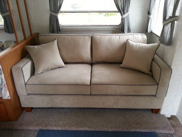 My New Simplicity Sofa For My RV! Perfect Fit. #rv Furniture #camper