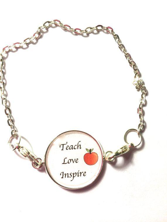 TEACH Love Inspire Bracelet-bookwormgifts for by Funjewelryshop