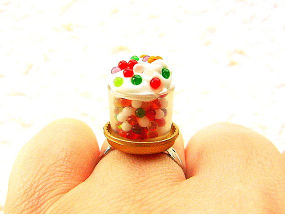 Kawaii  Ring Colorful Candy Miniature Food by SouZouCreations, $12.50 #etsy #jewelry #jewellery #shopping #etsy #handmade #food #gift #present #accessory #accessories #harajuku #tokyo #fashion #summer: Food Gifts