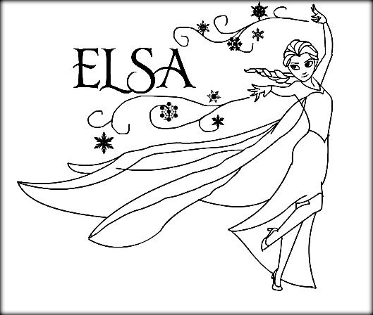 Disney Frozen Coloring Pages Anna And Elsa We Heard About The Ice Queen Turning Things Into