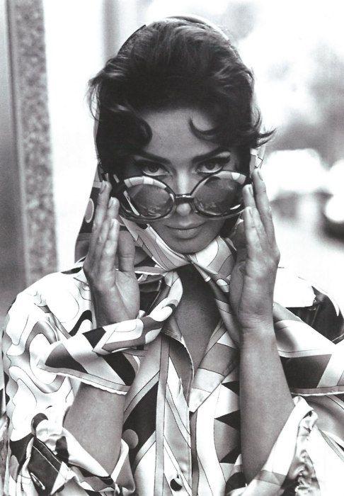 Isabella Rossellini in Pucci, 1970s.
