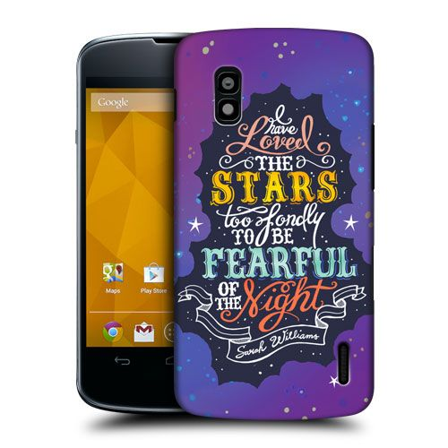HEAD CASE STARS INSPIRATIONAL TYPOGRAPHY BACK CASE FOR LG NEXUS 4 E960 | eBay