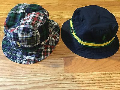 Polo Ralph Lauren patch work fisherman bucket hat cap black watch tartan plaid
