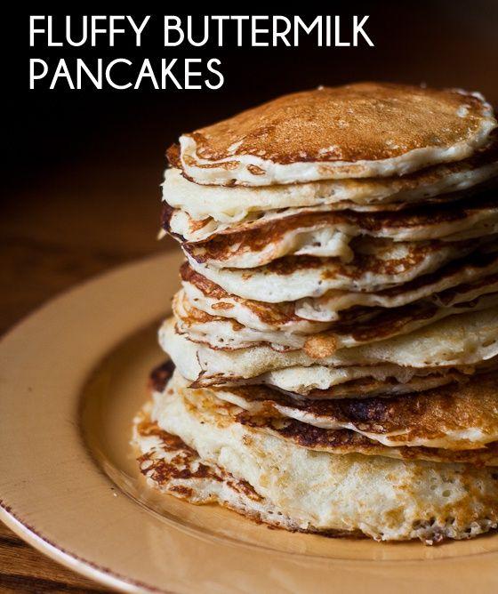 Fluffy Buttermilk Pancakes | Breakfast | Pinterest