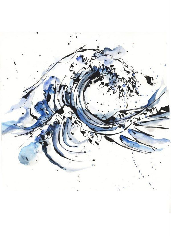 Ocean wave tattoo designs
